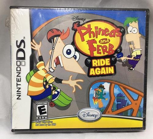 Imagen 1 de 3 de Juego Nintendo Ds Phineas & Ferb Ride Again Nuevo  Replay