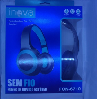 Fone De Ouvido Estéreo Bluetooth Sem Fio Inova