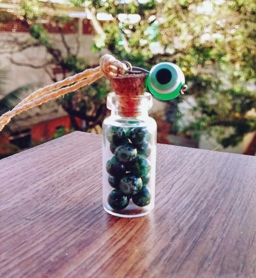 Colar Garrafinha Olho Grego / Hippie / Amuleto / Artesanato