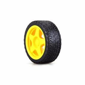 Roda Amarela 68mm Para Chassi Robô - Arduino/robótica