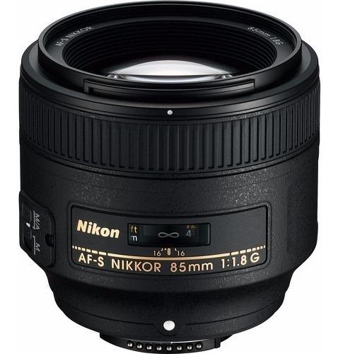 Lente Nikon Nikkor Af-s 85mm F/1.8g Nova 12x S/juros