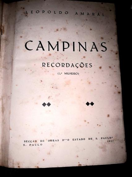 Campinas Recordações 1927 Leopoldo Amaral