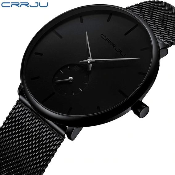 Relógio Crrju 2150 Aço Inox Ultra Fino Social Pronta Entrega