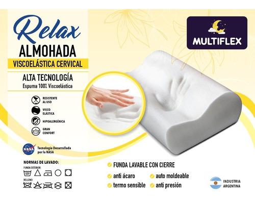 Imagen 1 de 7 de Almohada Intelig Viscoelástica Cervical Pack 2 Un Multiflex