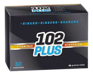 102 Plus Vitaminas Y Minerales Ginko Ginseng Guarana 60 Comp