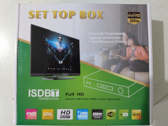Conversor Digital Para Tvs Set Top Box Full Hd.
