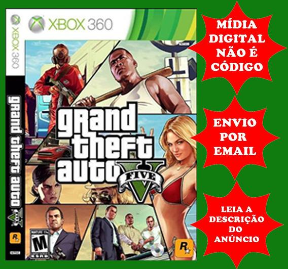 Gta V Mídia Digital Xbox 360 (leia Com Atenção A Descrição)
