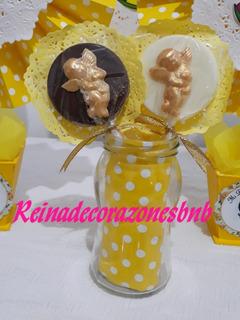 Paletas De Chocolate Personalizadas