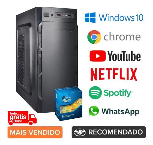 Imagem 1 de 5 de Cpu Pc Desktop Intel I5 4gb 500gb Windows 10 - Melhor Preço!