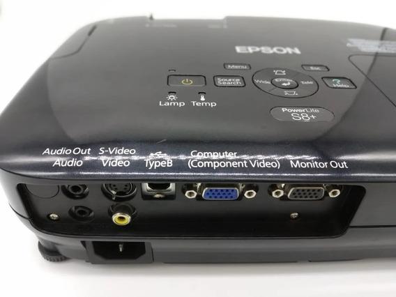 Projetor Epson Powerlite S8+ 2500 Lúmens Usb Vga S-vídeo