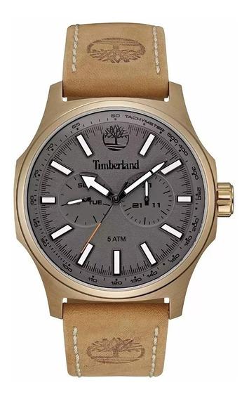 Relógio De Pulso Timberland De Cuero - Novo 100%