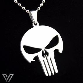 Colar Justiceiro The Punisher Caveira Skull Aço