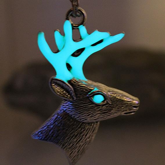Colar Alce Deer Baratheon Brilha Escuro Game Of Thrones