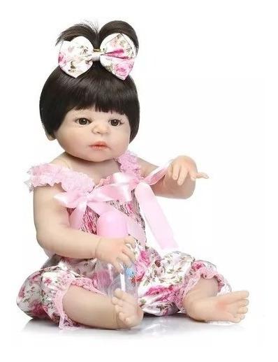 Bebe Reborn Menina 55cm Silicone Pronta Entrega D551