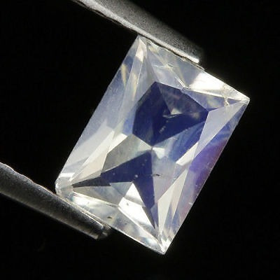 Bela Pedra Da Lua Arco-íris Natural 7x5mm - 0,85 Ct