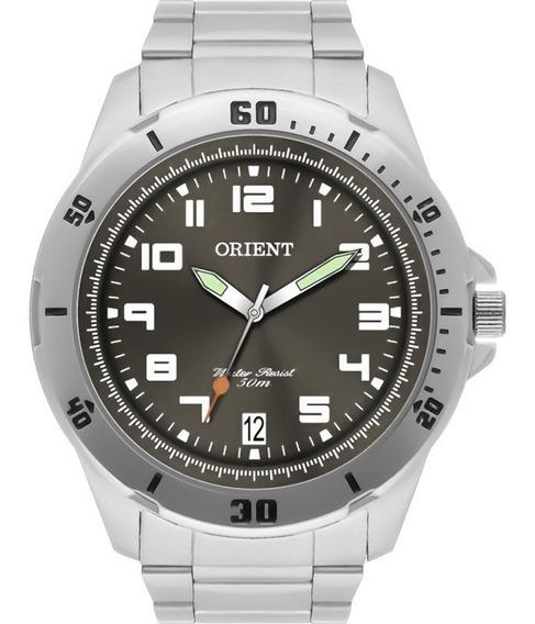 Relógio Orient Masculino Prata Original Sport Mbss1155a G2sx