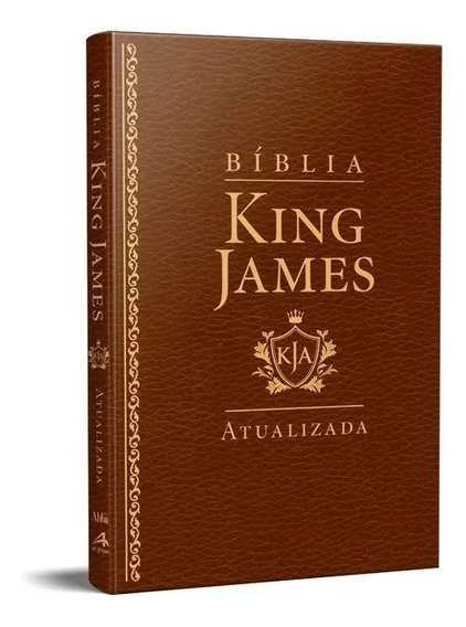 Bíblia King James Atualizada Slim Kja Marrom Luxo
