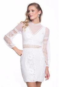 Vestido Festa/ Casamento Civil Noiva Guippir Renda Chantilly