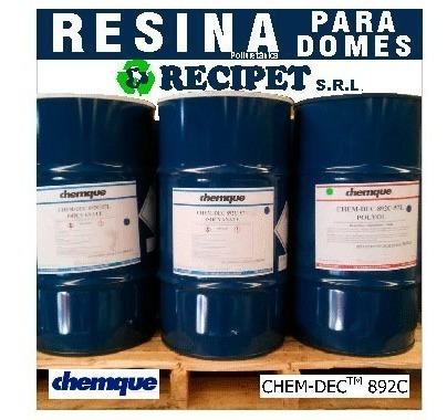 Resina Poliuretánica P/domes - Chemque - Cristal Kit 1 Kgr