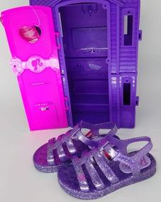 Sandalia Barbie Dreamhouse 21832 Roxo Doch Tp C/ Cl Pt