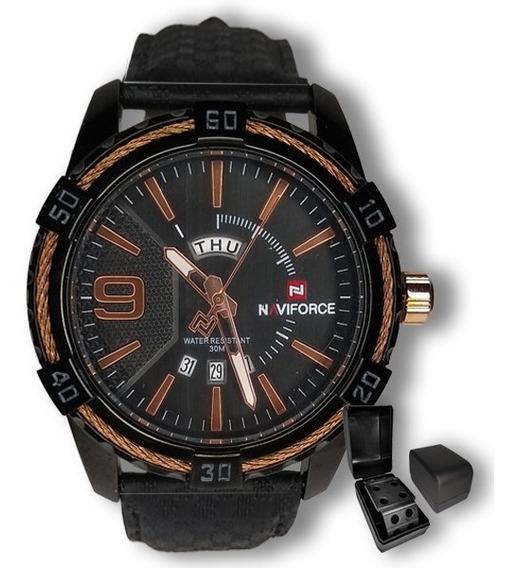 Relógio Masculino Naviforce Militar Importado + Brinde