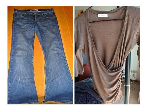 Pantalon Jean Kosiuko Dama Oxford T29 Mujer+de Regalo Remera