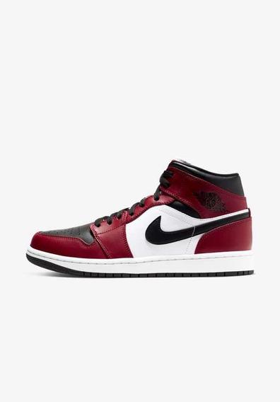 Nike Air Jordan 1 Mid GymRed Chicago Vermelho Original