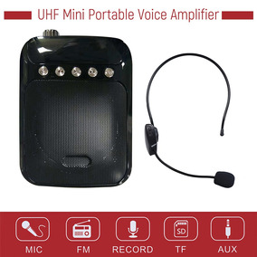 Uhf Mini Voz Portátil Amp Amplificador Altifalante Fm Rádio