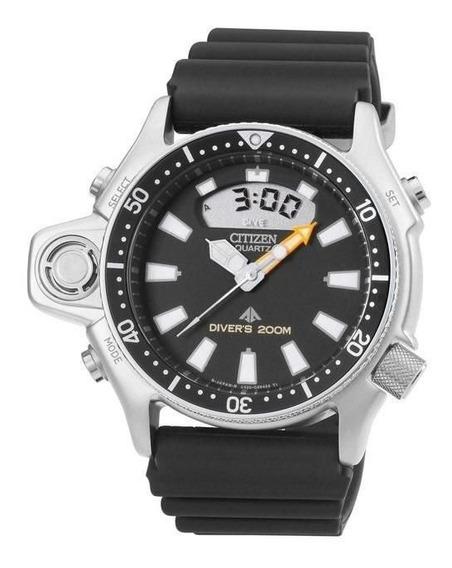 Relógio Citizen Masculino Ref: Tz10137t Aqualand Prateado