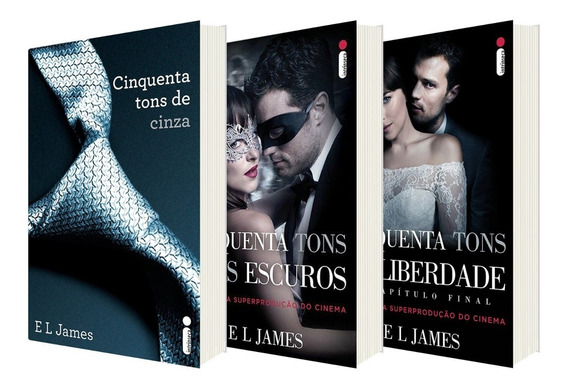 Livro Trilogia 50 Tons De Cinza Envio Rapido