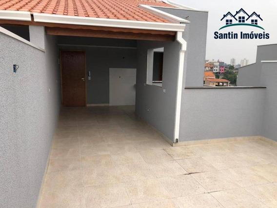 Cobertura Com 2 Dormitórios (01 Suíte) Fino Acabamento,vaga Coberta E Determinada À Venda, 100 M² Por R$ 300.000 - Parque Oratório - Santo André/sp - Co0391