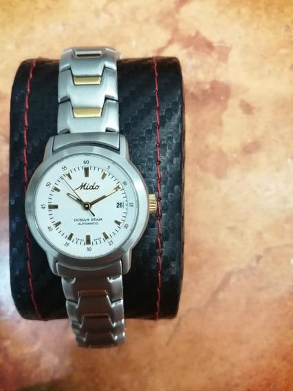 Reloj Mido Ocean Star Automático Nuevo Con Chapas De Oro.