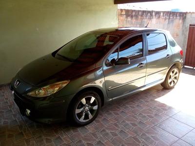 Peugeot 307 1.6 16v Flex Cinza Com Teto Solar