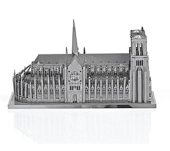 Plata Notre Dame De París Diy 3d Modelo Vaivén
