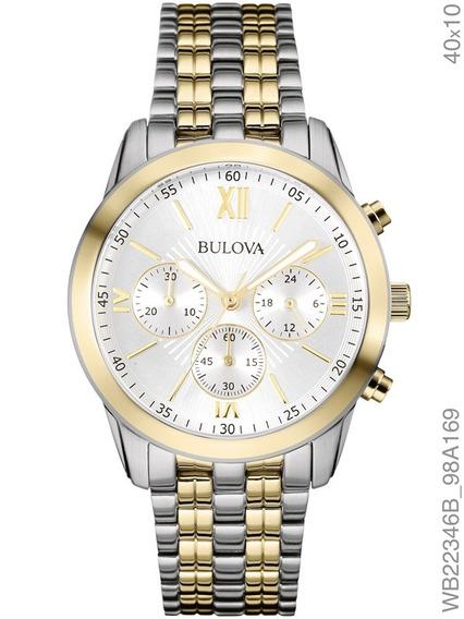 Relógio Bulova Feminino Bicolor Wb22346b