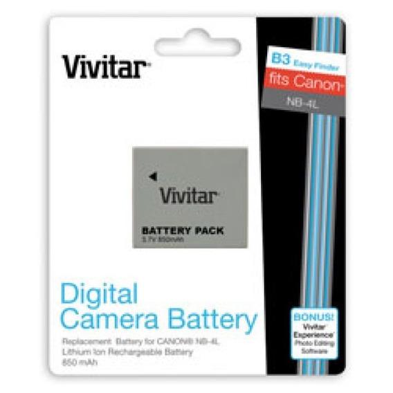 Bateria Vivcb4l Vivitar Nb4l Para Powershot Canon (nfe)