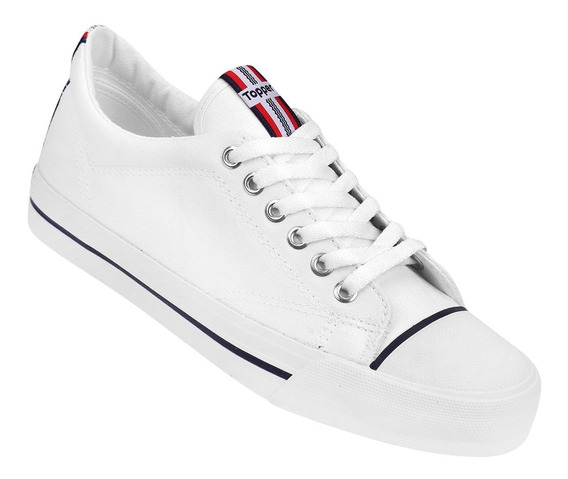 Zapatillas De Lona Topper Profesional Blanco 35 Al 46 59721