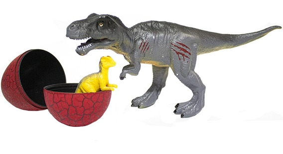 Dinossauro Bee Toys Com Ovo Divertido Vermelho - 0647