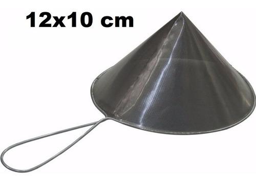 Imagem 1 de 1 de Coador De Óleo Chinoy Telado 12x10cm Inox