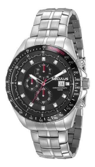 Relógio Seculus Prateado Masculino Chronograph 23617g0svna2