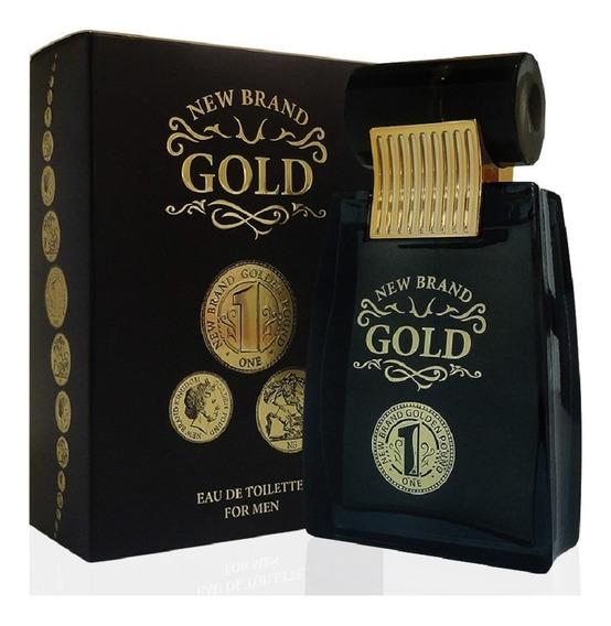 Perfume Gold Masculino New Brand 100ml - Promoção