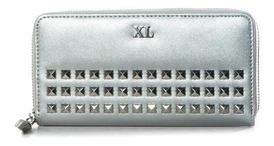 Billetera Dama Mujer Estampada Tachas Matelasse Marca Xl
