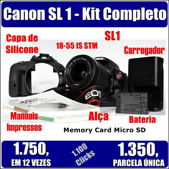 Canon Sl1 Novíssima - 1.150 Clicks - Kit Completo Mini T5i