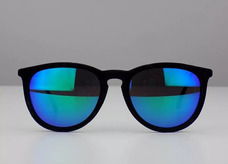 77f5fcf42 Óculos Escuro Moda Famoso De Grife Azul Erika Aveludado Luxo