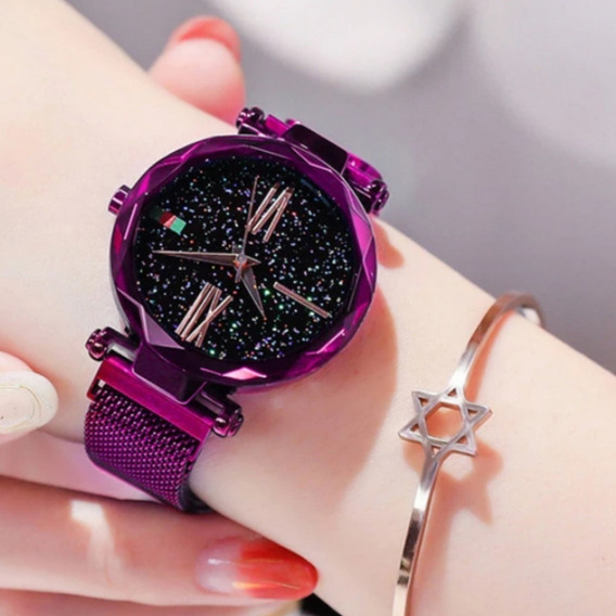 Relógio De Pulso Feminino Pulceira De Ima Bracelete Caixinha