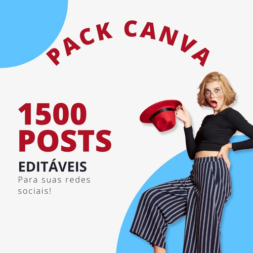 Imagem 1 de 2 de Super Pack Canva + De 1500 Posts Editáveis Para Suas Redes.