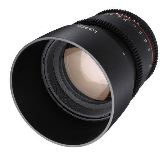 Lente Rokinon 85mm T1.5 Cine Ds Lens For Canon Ef Mount