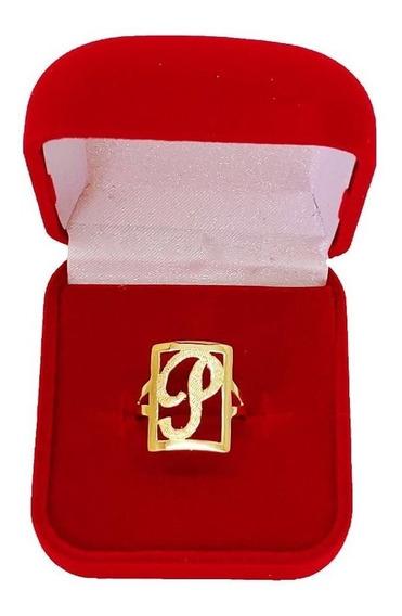 Anel De Letra 2 Grs Ouro 18 Kl 750 ( Temos Todas As Letras )