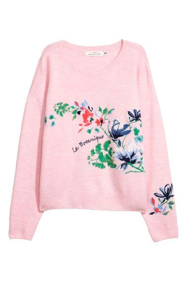 Sweater Vintage Boho Dama Bordado Con Flores Hym Forever 21