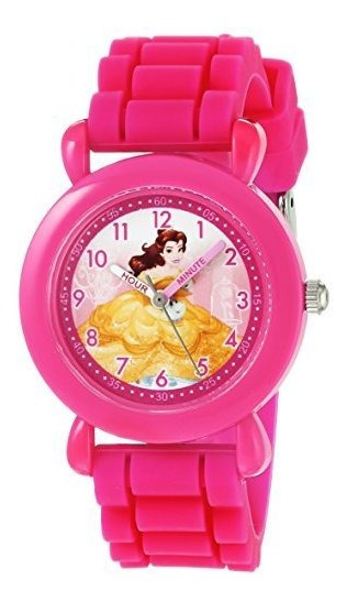 Disney Girls Princess Belle Reloj Analogico De Cuarzo Con Co